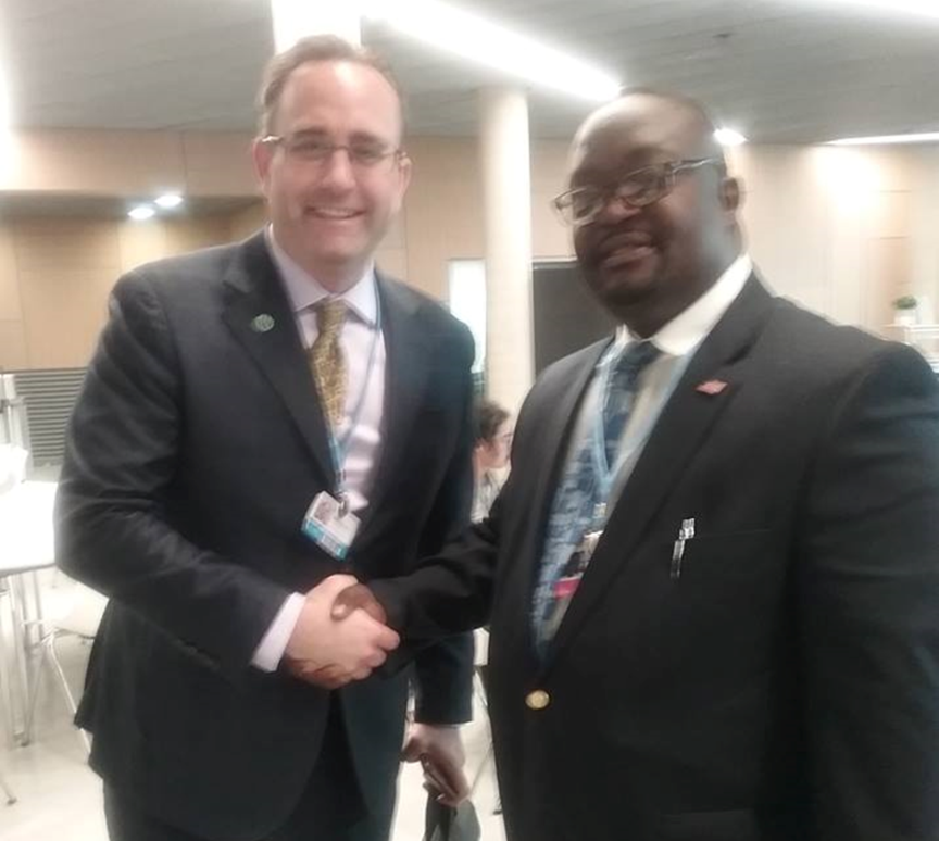 Executive Director of the Environmental Protection Agency (EPA) of Liberia, Nathaniel T. Blama, Sr. attends the United Nations Climate Change Conference from April 30 to May 10, 2018, in Bonn, Germany.